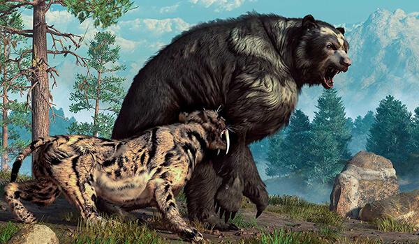 Фото: Вымерший пещерный медведь